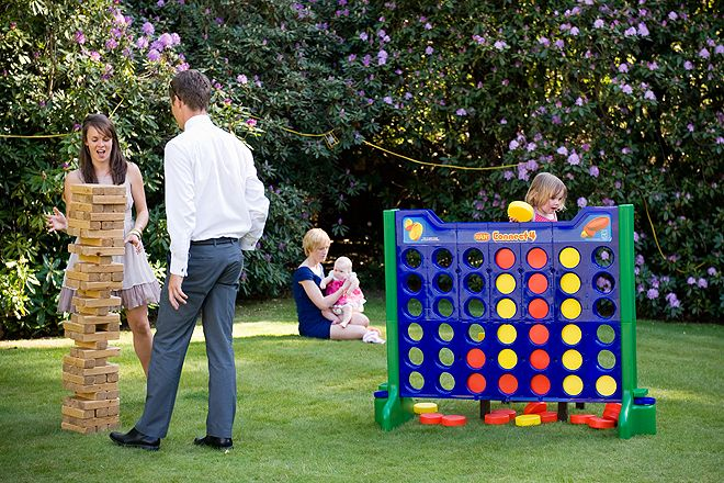 Giant Jenga and Connect 4 are fun for kids and grownups to play together and boules can be enjoyed by all ages.