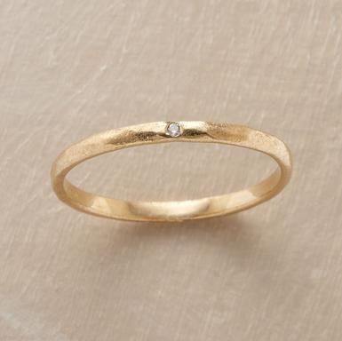 just a teeny tiny diamond ring. kind of refreshing
