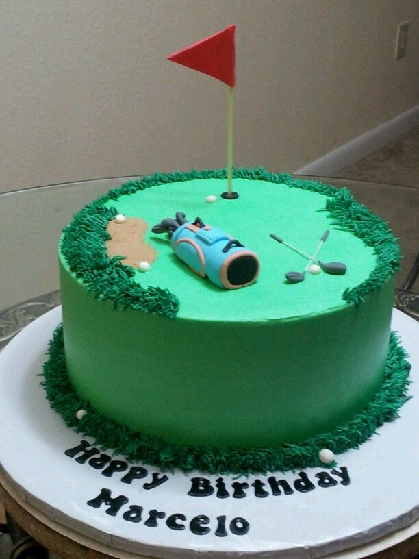 Golf theme cake My creations Pinterest Golf, Golf ...