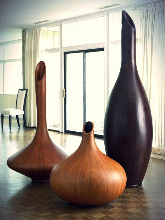 Beautiful hand carved and unique wooden vases you can get only at Eclectic Elements!