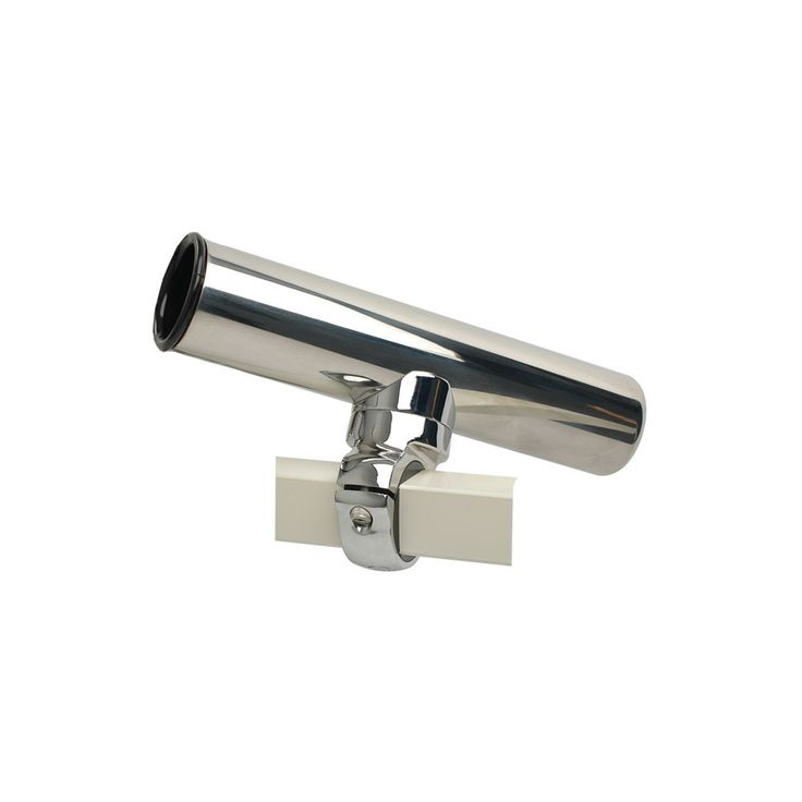Pontoon Square Rail Adjustable Clamp On Rod Holder All the same great features as the 304L stainless adustable clamp-on (55105A) with a clamp made to fir the square rails found on pontoon boats. Each