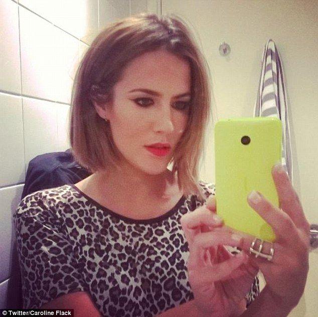 Caroline Flack unveils a striking new bobbed 'do as she parties #dailymail