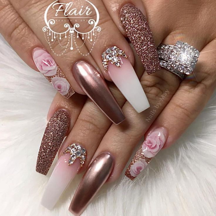 """3,508 Likes, 28 Comments - ReCreations & Inspirations (@vanessanailzfeatures) on Instagram: """"Good morning here is a beautiful set by the lovely @nailsby_may ✨"""""""