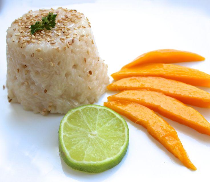 Een lekker tropisch toetje met mango & sticky rice!