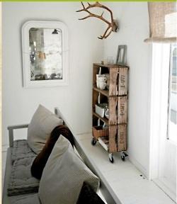 home decor tumblrIdeas, Wine Crates, Interiors, Crates Shelves, Bookcas, Old Crates, Wooden Crates, Diy, Wood Crates