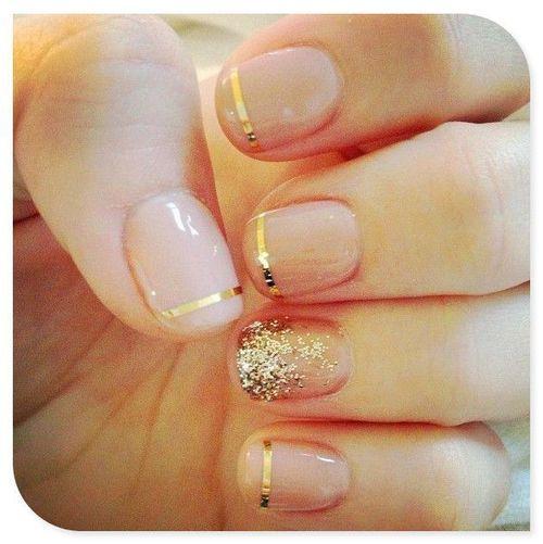 Gold nails #nailart #pixiemarket