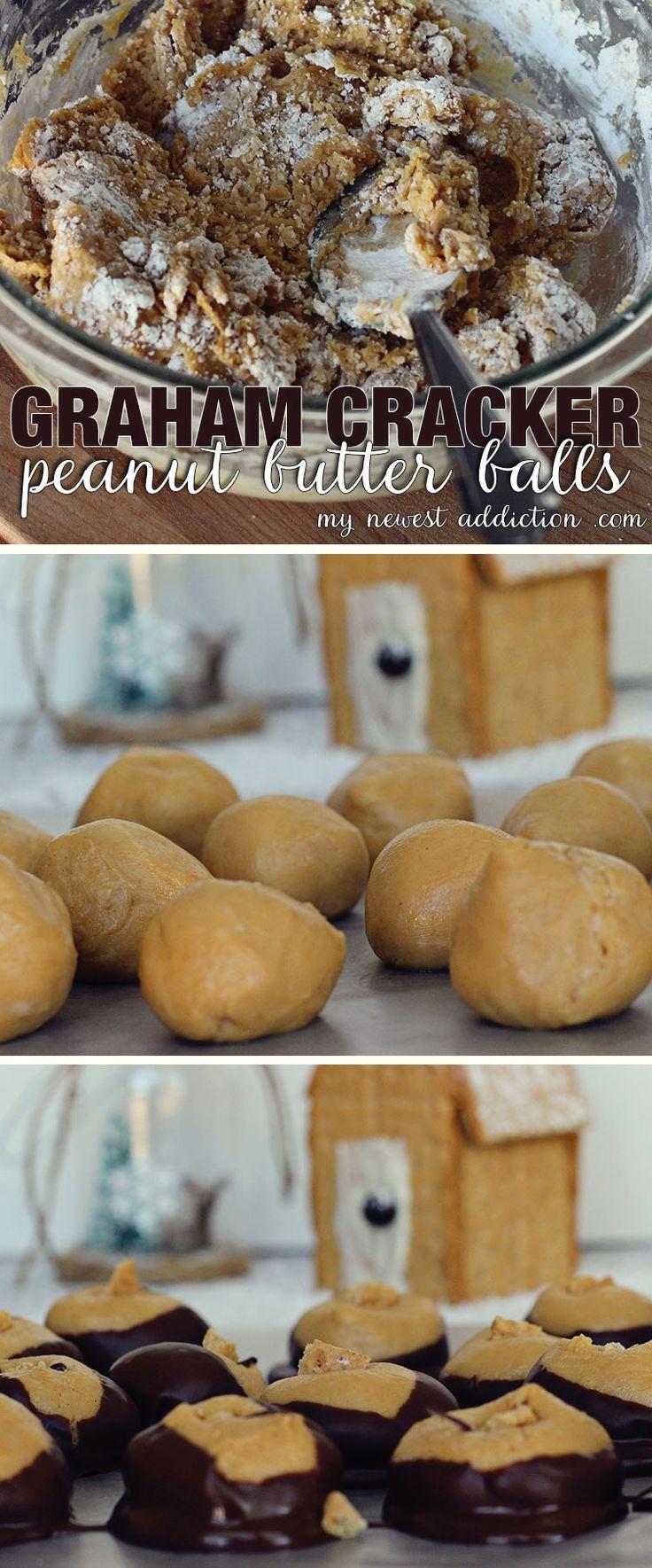 Graham Cracker Peanut Butter Balls + Graham Cracker House