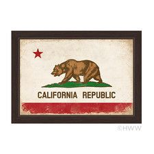 California Republic Flag Framed Graphic Art