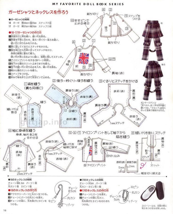 Blythe Long-sleeved top / jacket basics - My Favorite Doll Book Series