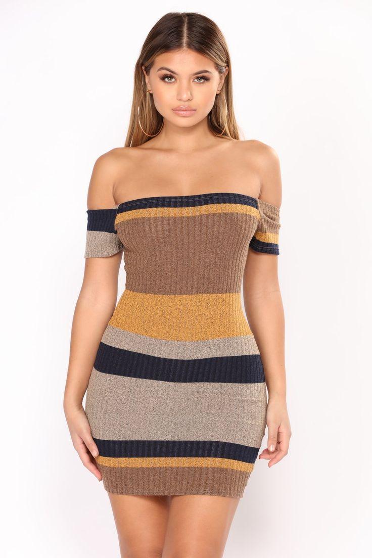 Sweet Tea Stripe Dress - Yellow/Navy