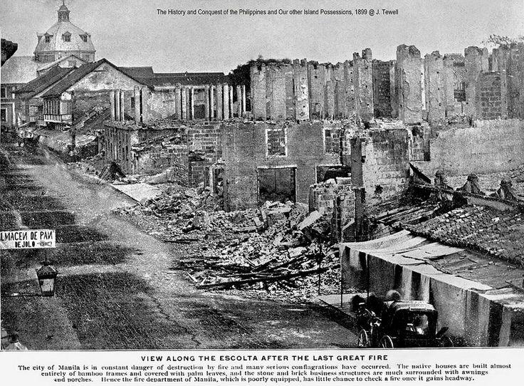 Fire damage binondo manila philippines berfore 1899