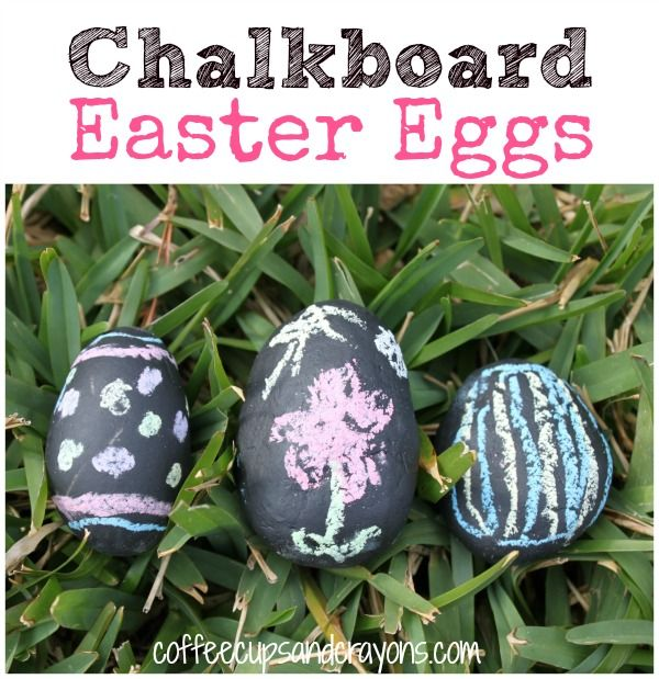 Chalkboard Easter Eggs for Kids- so fun!