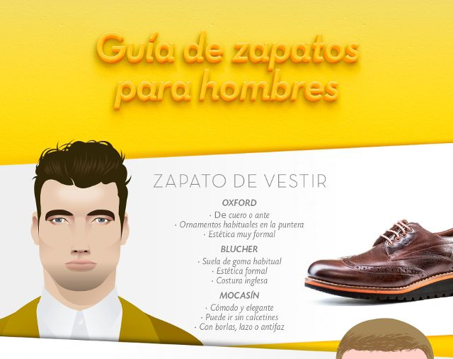 Diferentes estilos de calzado masculino