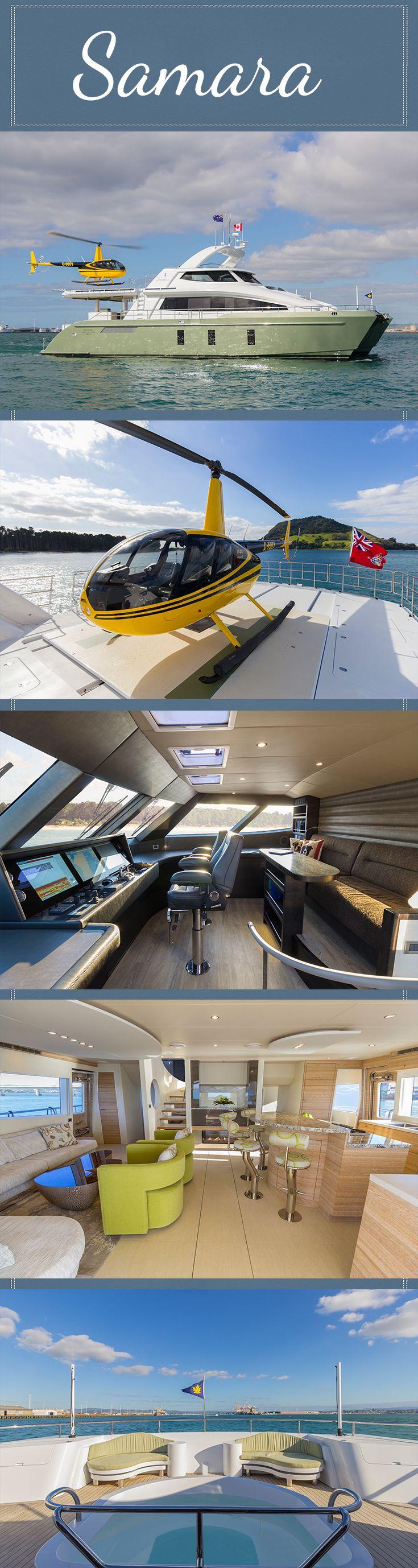 Pachoud Yachts 24m Exploration Catamaran Superyacht - Samara. Automated helideck, Helm, Saloon, Spa on foredeck