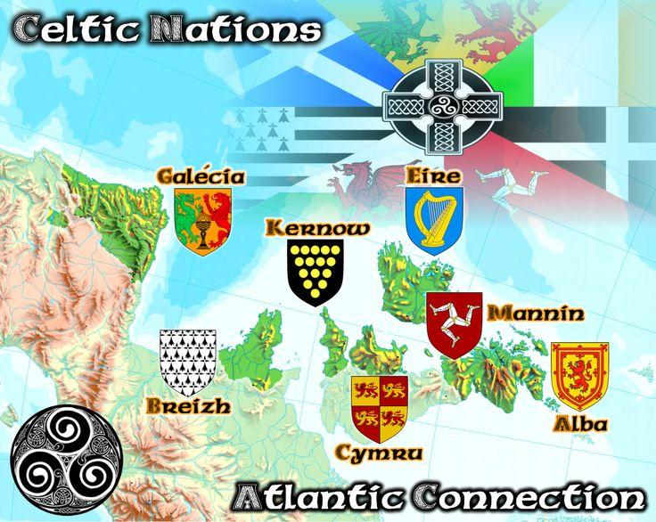 Risultati immagini per flags of celtic nations