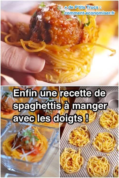 Enfin une Recette de Spaghettis aux Boulettes Qu'on Peut Manger AVEC LES DOIGTS !