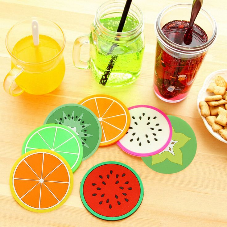 Cute Colorful Silicone Fruits Coaster Cup Cushion Holder Drink Placemat Mat Home Decorates Drop Shipping
