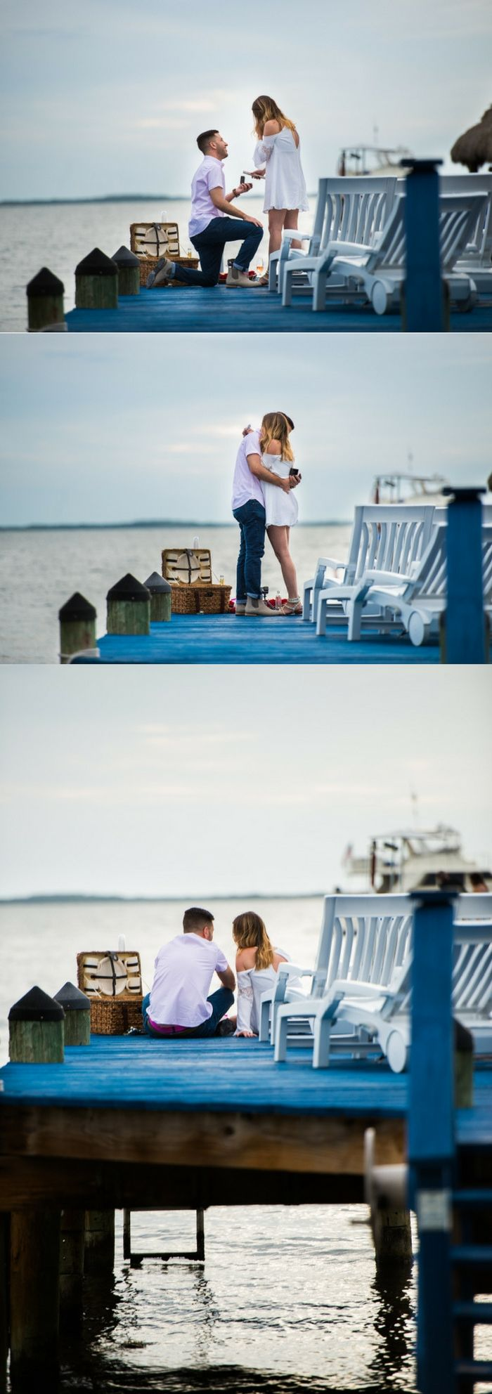 They were having a picnic on the dock, and it turned into the most beautiful marriage proposal.