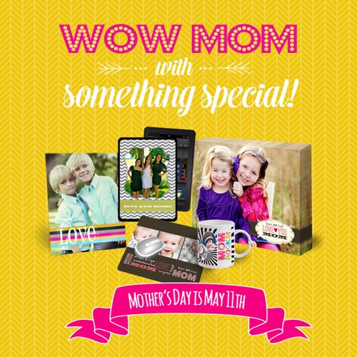 Make something special for Mother's Day. Photo Gifts are always one of a kind and appreciated! Order online (www.photoexpressions.fotodepot.ca) or in store.