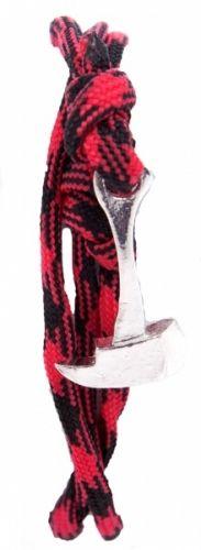 Stilig armbånd fra Thread Etiquette. Solid armbånd med øks som festemekanisme gjør dette armbåndet utrolig tøft og unikt. Armbåndet kan justeres.  Merke: Thread EtiquetteModell: LumberjackFarge: Rød