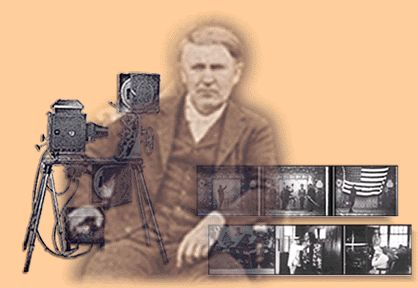 Edison Motion Pictures, Thomas Edison built a motion picture production studio in New Jersey. The studio had a roof that could be opened to let in daylight, and the entire building was constructed so that it could be moved to stay in line with the sun.