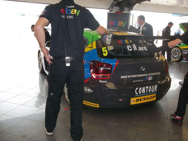 WSR / ebaynotors pit garage BTCC Silverstone 2014