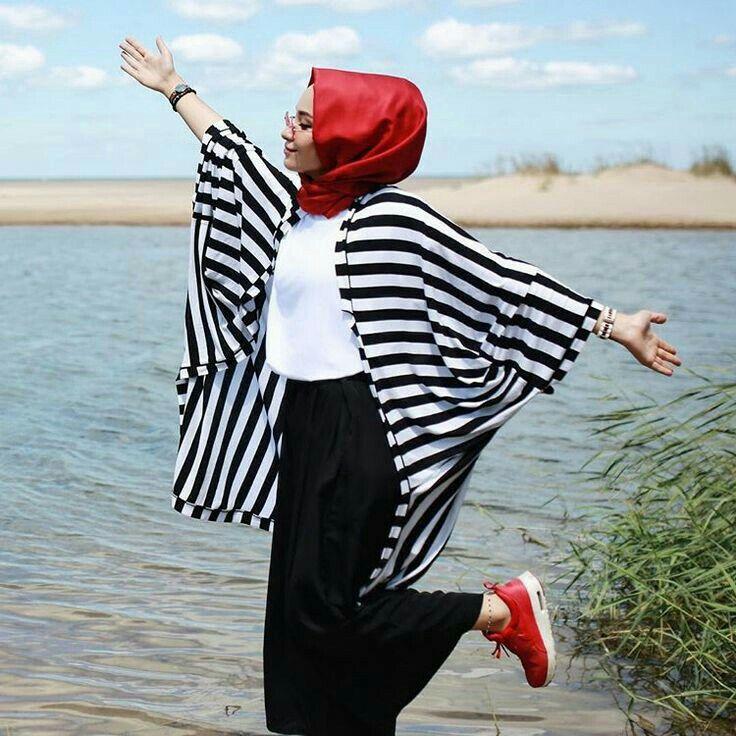 Hijab fashion.. kimono