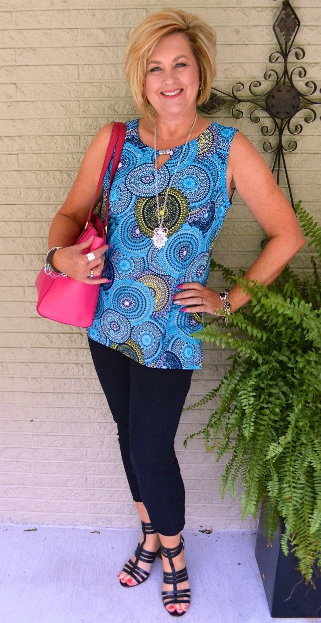 50 IS NOT OLD | GO ROUND IN CIRCLES | Wearing Prints | Gladiator | Fashion Over 40 For The Everyday Woman #gladiator #prints #fashionover40 #insoirational