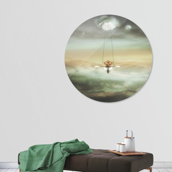 Discover «Relaxation», Limited Edition Disk Print by Stefania Piredda - Giffyart - From 95€ - Curioos