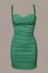 Rochie verde smarald cu pietricele stras este deosebita pentru un majorat de neuitat. Aceasta rochita o gasiti aici: www.dreamfashion.ro