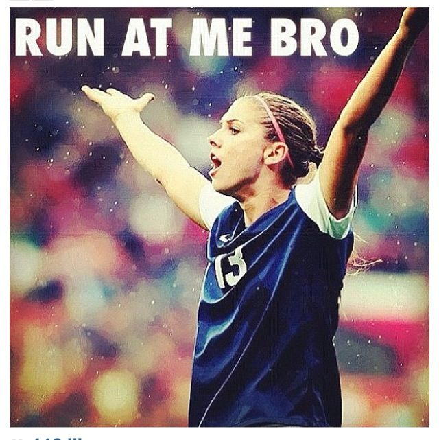 Alex Morgan, such an inspiration.