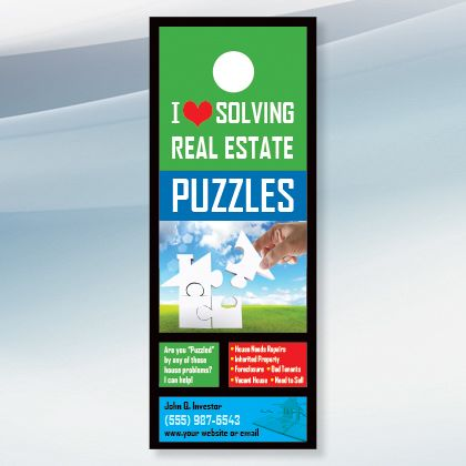 House Puzzle   Real Estate Door Hanger Design For Investors