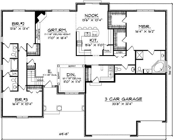 1000 images about floor plans on pinterest house for Monster house plans ranch
