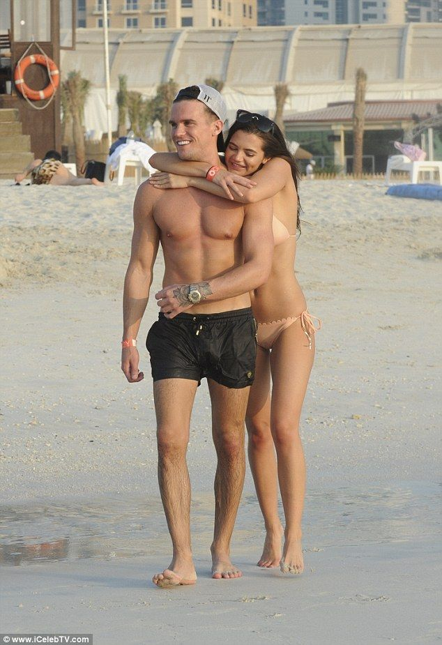 He Shore looks good!Gaz ensured he was also looking his best as he displayed his muscular figure in a pair of small black swimming trunks