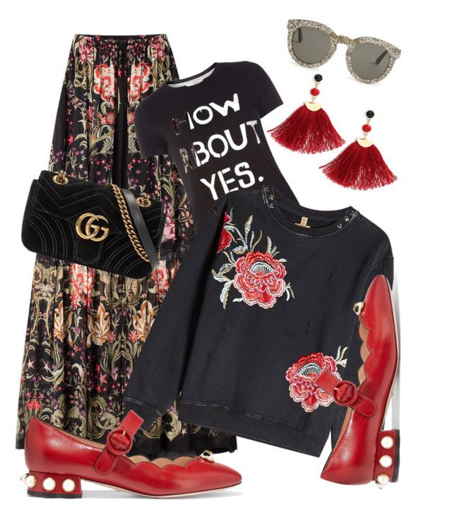 """""""Day15_how about yes_#"""" by natalia-andre-morin ❤ liked on Polyvore featuring Roberto Cavalli, Gucci, Dorothy Perkins, True Religion, Yves Saint Laurent and Shashi"""