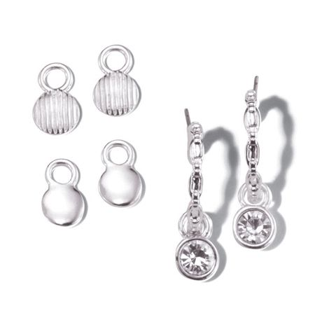 You will love this product from Avon: Stunning Silvertone Interchangeable Earring Set