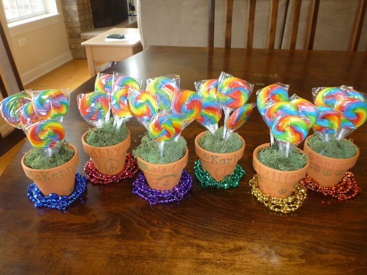 Party Favors For 6 Year Old Birthday Rainbow Peace Sign Theme