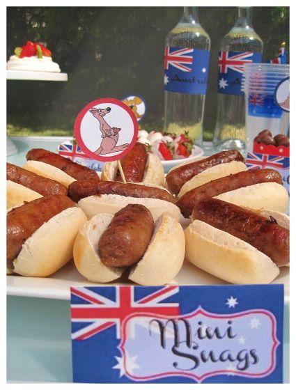mini snags for Australia Day.
