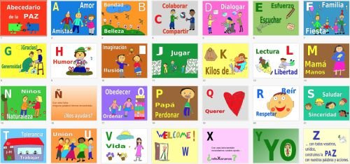 El abecedario de la PAZ ideal para trabajar el 30 de enero -Orientacion Andujar