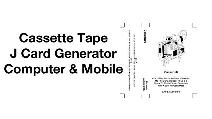 Cassette Tape J Card Template Generator Easy Mixtape Maker With Cassette J Card Template Cumed Org Cassette Tapes Card Template Cassette