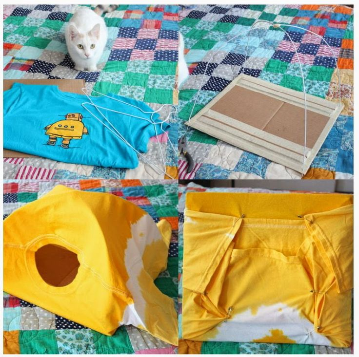 DIE WELT VON RECYCLING: DIY für die Katze das Recycling ein Hemd