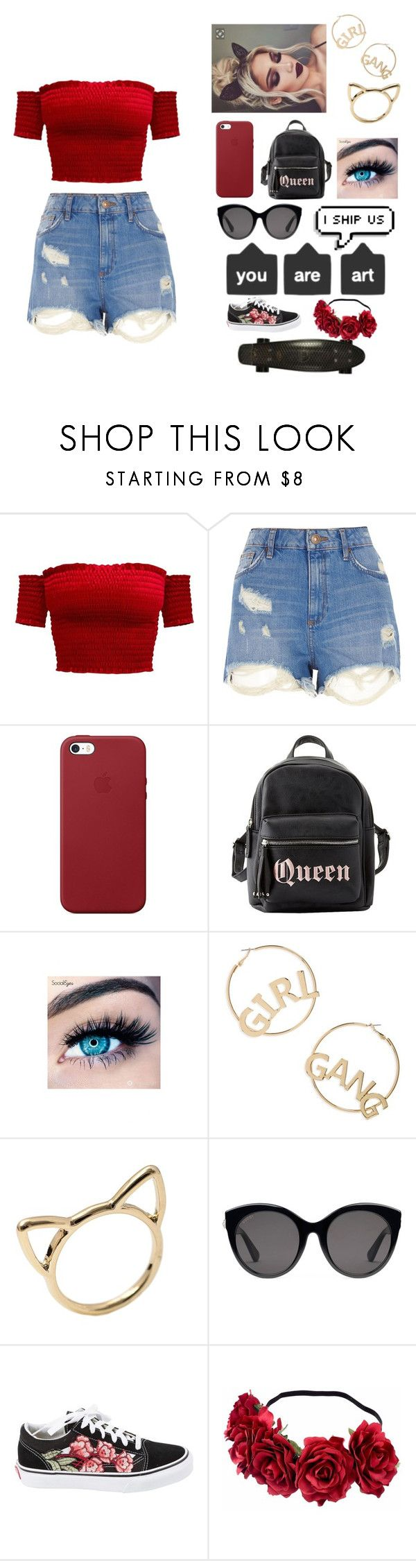 """new layoutttt yay!"" by qxeen-ty ❤ liked on Polyvore featuring River Island, Apple, Charlotte Russe, MINX, BP., Gucci, Retrò and Vans"