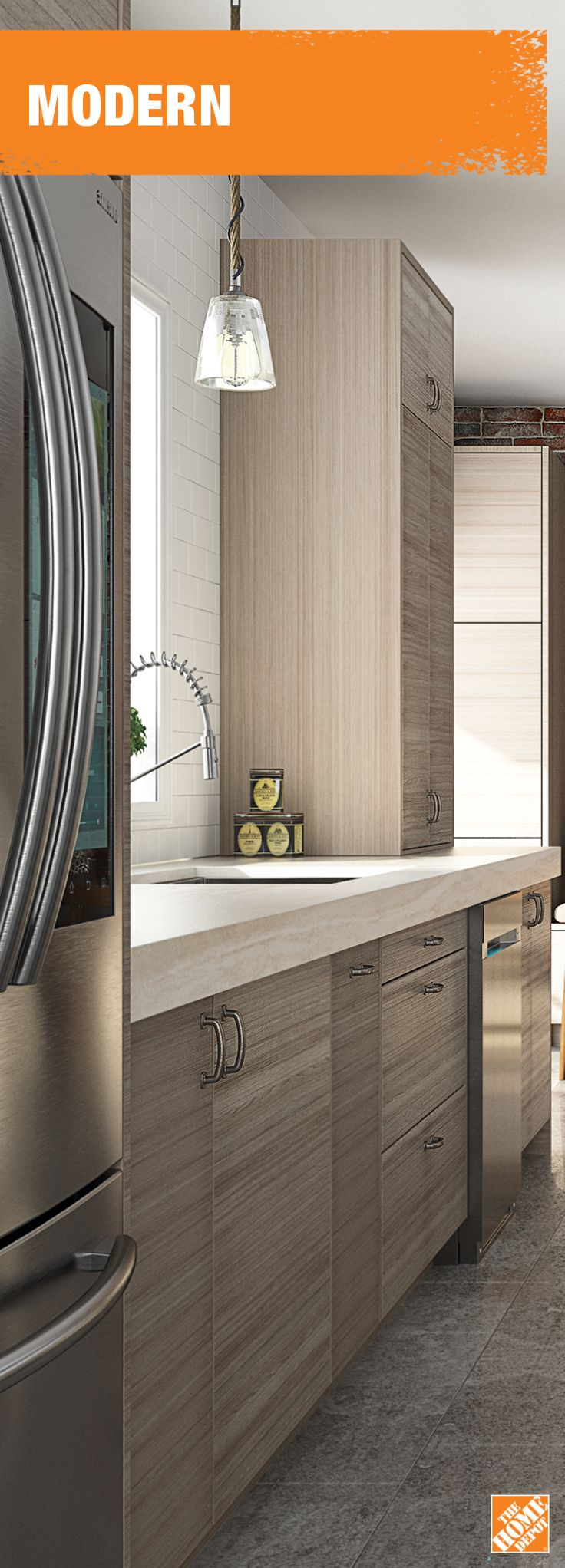from homedepotca Naturally finished cabinets are