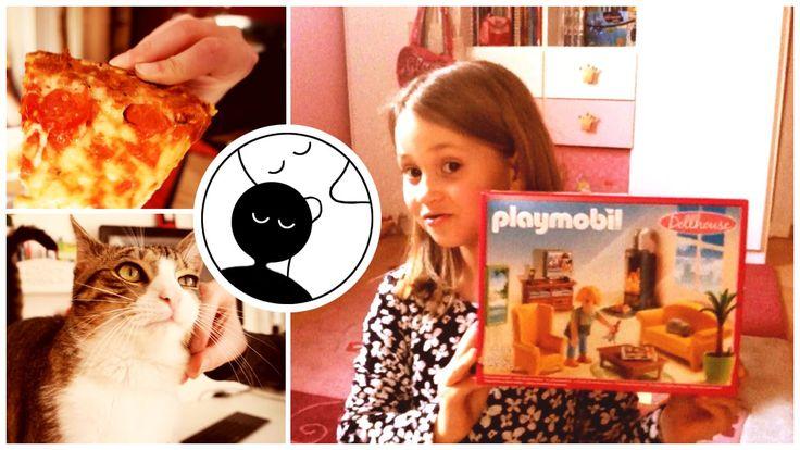 Daily Vlog   011   7. Kindergeburtstag Playmobil Dollhouse 5308 Wohnzimmer mit Kaminfeuer