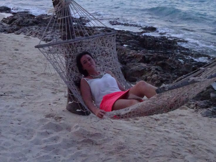 Watching the sunset in the hammock on this beautiful Cuban beach