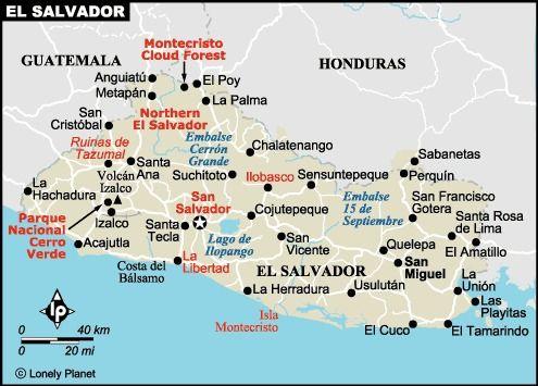 El Salvador - San Salvador, San Miguel, La Union...I'd like to visit San Salvador, and la union please(: