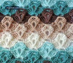 Crochet Textured Stitch Tutorial - (mypicot)