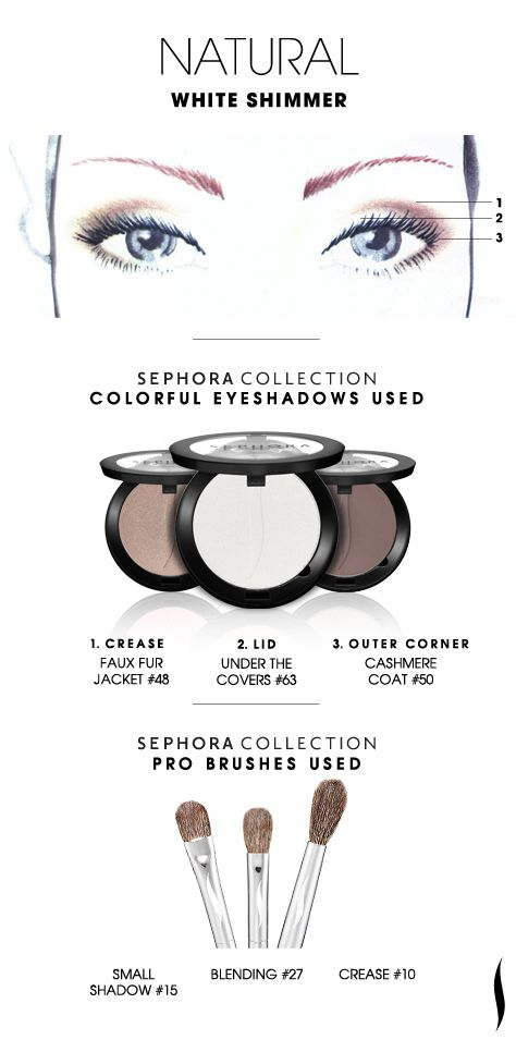 NATURAL: White Shimmer HOW TO #sephoracollection #sephora #eyeshadow #makeup