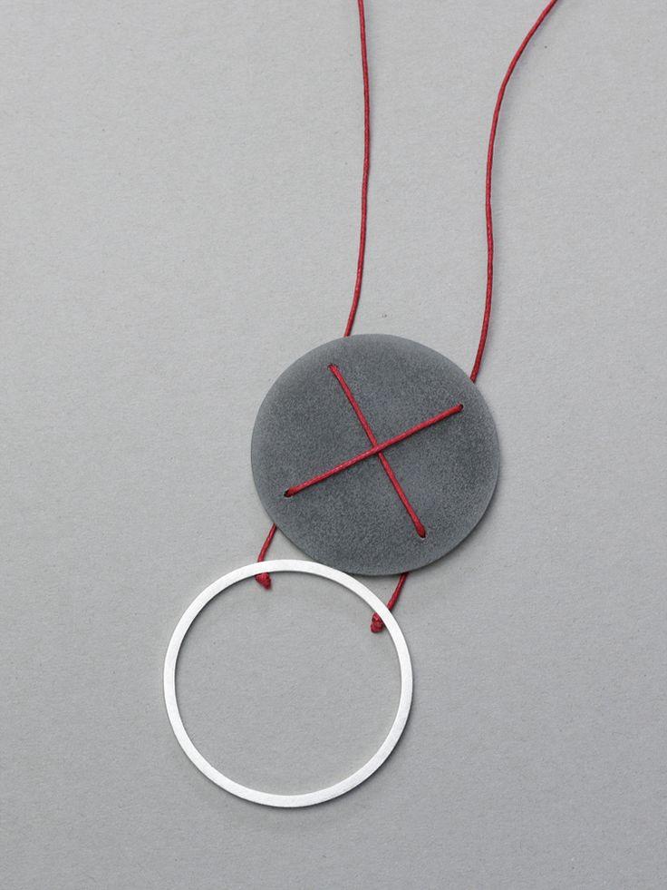 Necklace: X's series. Rita Rodner, 2014.Contemporary necklace, geometric neckalce