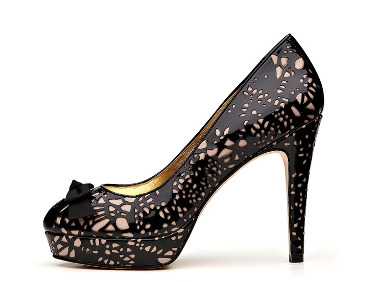 Enchanted Peep Toe Pump from Mimco: Peep Toe Pumps, Black Lace, Fashion Envy, Peeps Toe Pumps, Mimco, Heels, Girls Shoes, Enchanted Peeps, Dreams Wardrobes